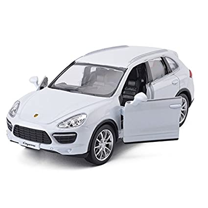 Blemay 1:36 Scale Porsche Cayenne Model Car Diecast Toy Vehicles (White)