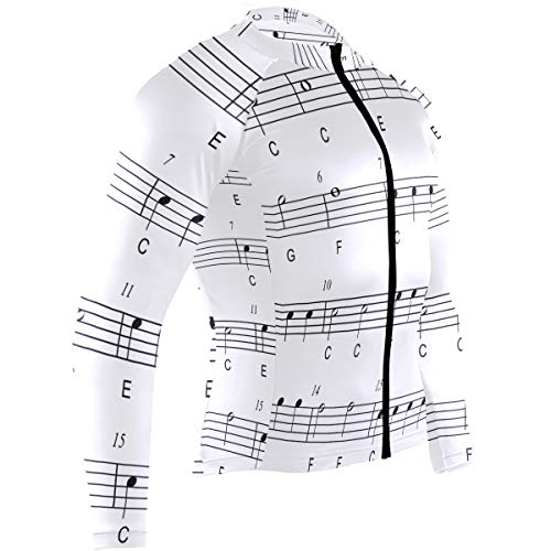 Ladninag My Music Online Mens Cycling Jersey Shirts Long Sleeve Outdoor Cycle Clothing Outfit