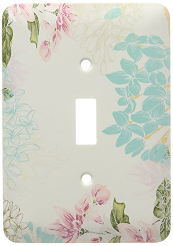 3dRose LLC lsp_150043_1 Lovely Elegant Summer Flowers Nature Floral Design with Blue and Pink Mauve Flowers Single Toggle Switch - Floral Single Toggle