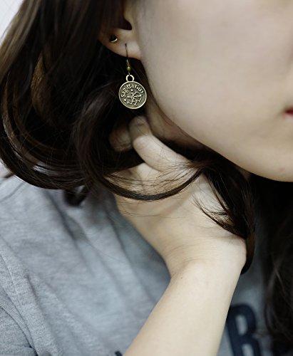 Stay Calm SCORPIO Zodiac Sign Astrology Horoscope Hook Earrings Birthday Gift - All 12 Sun Signs Available (Scorpio)