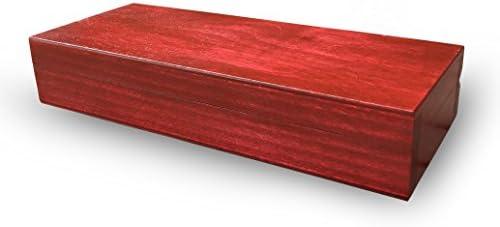 Stiftebox, caja, madera-caja, madera de tilo colour madera de haya barnizada, lacado transparente: Amazon.es: Hogar
