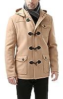 BGSD Men's 'Nathan' Wool Blend Patch Pocket Short Toggle Coat