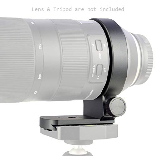 Elefront Tripod Mount Ring for Tamron 100-400mm F/4.5-6.3 Di VC USD (Model A035) with Built-in Arca Type Quick Release Plate