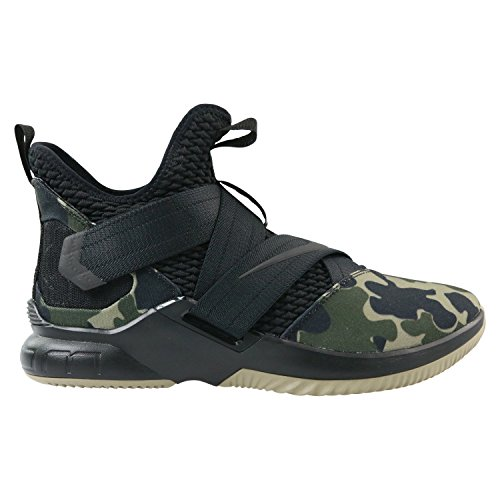 NIKE Lebron Soldier XII SFG Mens Basketball-Shoes AO4054-001_11 - Black/Black-Hazel Rush