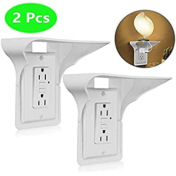 Outlet Shelf,Wall Outlet Shelf,Shelf Socket,Socket Shelf, Storage Theory Space Saving Solution,Easy Install-Holds Up to 10 lbs, White,2 Pack (2 Pack)