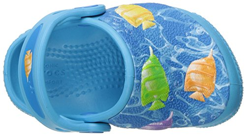 K multi Bambino Clg Blue Blu electric Fun Fish Sabot Crocs Lab Light 4HFcXKywBU