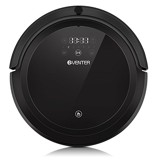 Robot Vacuum Cleaner with Strong Suction and Mop, Auto-Charging, UV Light for Pet Fur Hair and Allergens, Hardwood Floor and Low-Pile Carpet-Black