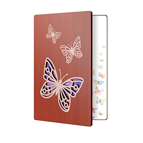 Wooden Greeting Card Butterfly Design: Premium Handmade Wood Card Perfect To Say Thank You, Happy Anniversary, Just Because, Or A Great Gift