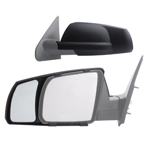 - K Source Fit System 81300 Snap-on Black Towing Mirror for Toyota Tundra/Sequoia - Pair