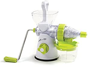 Hand Crank Juicer Fruit Vegetables Wheat Grass Green Juice Suction Base