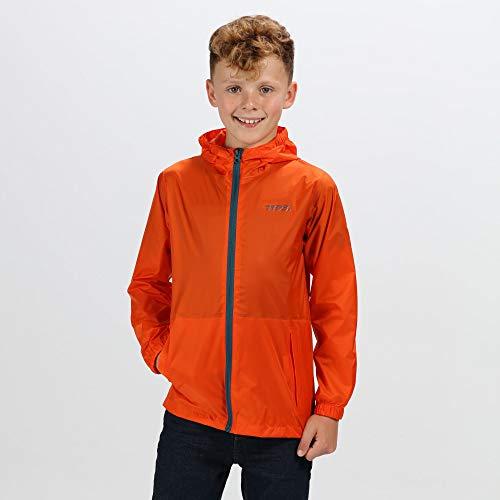 (Regatta Great Outdoors Kids Pack It Jacket III Waterproof Packaway Black (11-12 Years) (Blaze Orange))