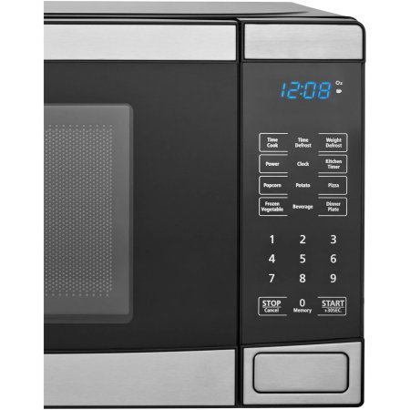 Mainstays 0.7 cu ft Microwave Oven, Stainless Steel by Mainstay