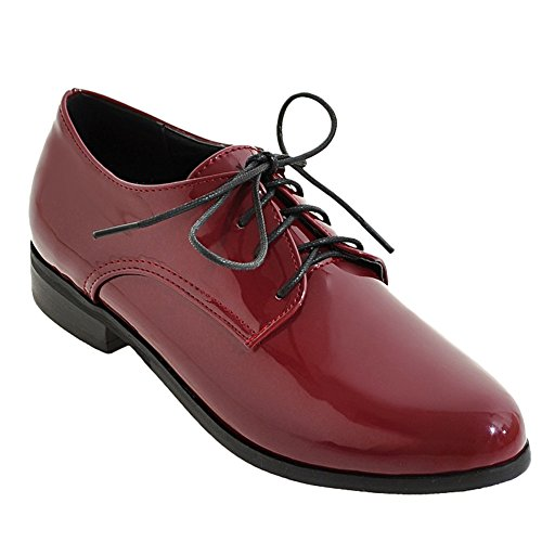 Latasa Dames Lace Up Oxford Schoenen Rood