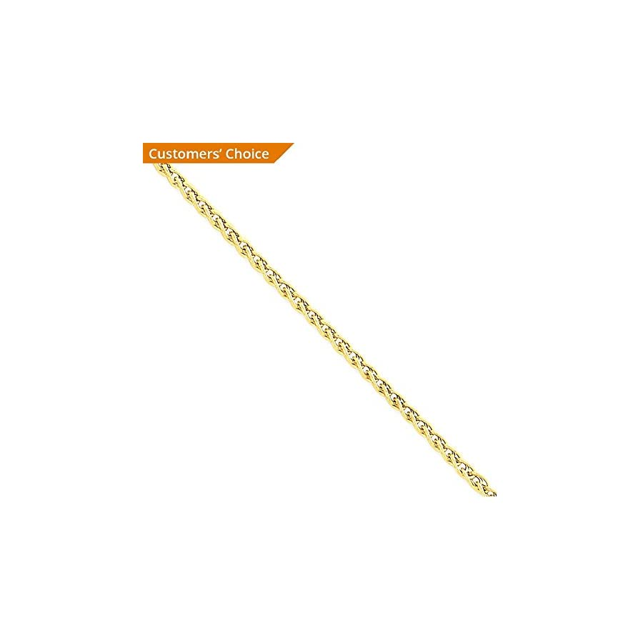 14k Yellow Gold 2mm Link Wheat Anklet Ankle Beach Chain Bracelet : Fine Jewelry For Women Gift Set