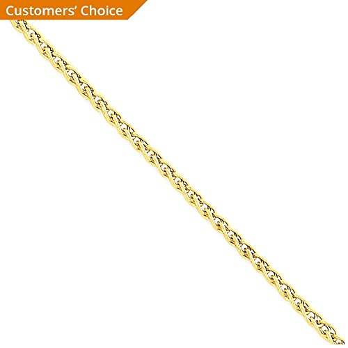 ICE CARATS 14k Yellow Gold 2mm Link Wheat Anklet Ankle Beach Chain Bracelet : Fine Jewelry Gift Set For Women Heart