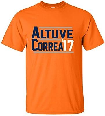 "The Silo ORANGE Altuve Correa Houston ""17"" T-Shirt"