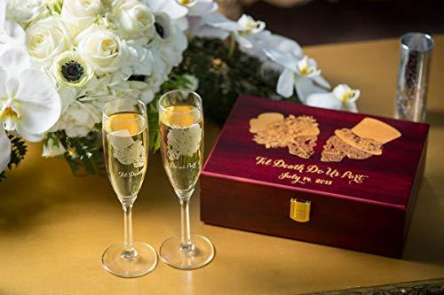 Sugar Skull wedding set, Champagne flutes, Wedding flutes, Toasting flutes, Sugar skull, Day of the dead, Dia de los muertos, Skull -