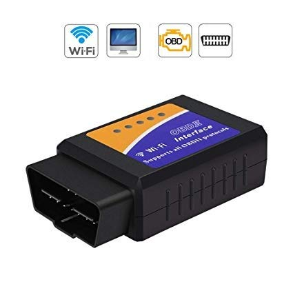 Car OBD2 Scanner Reader OBD2 Code Reader - OBD Reader with WiFi Version OBD2 Code Reader, iOS OBD2 Scanner, Android OBD2 Scanner, Compatible with iOS & Android