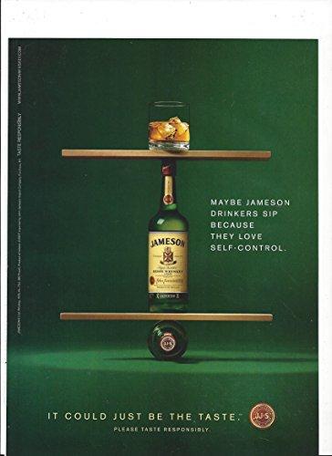 **PRINT AD** For 2008 Jameson Irish Whiskey Self Control Balance Scene **PRINT AD**