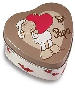 """Nici 31532 - Caja en forma de corazón con dibujo de oveja """"para papá"""" (7 cm) [Importado de Alemania]"""