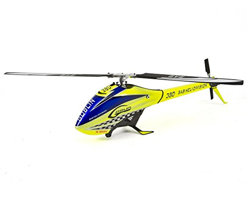 SAB Goblin 380 Flybarless Electric Helicopter Yellow/Blue Kit (Flybarless Electric Helicopter)