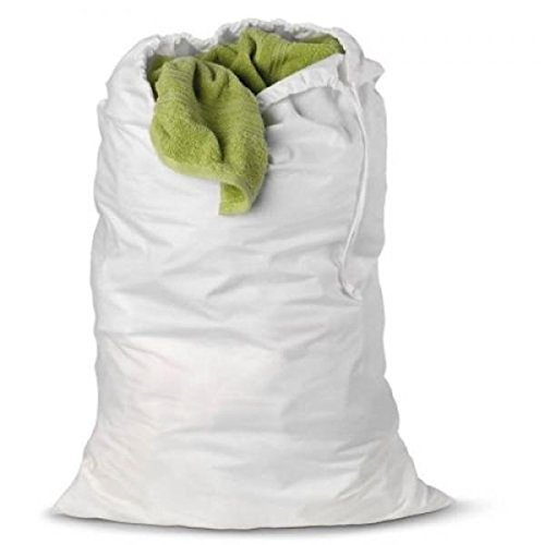 White heavy duty jumbo nylon laundry bag student college for Gimnasio 9 entre 40 y 41