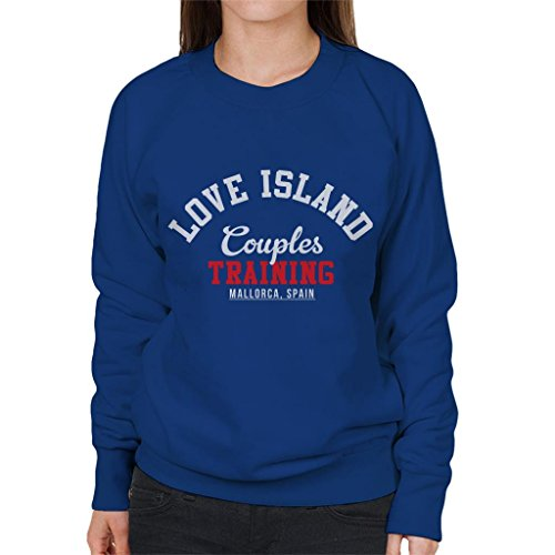 Women's Women's Women's Royal Couples Island Blue Training Academy Love Sweatshirt Sweatshirt Sweatshirt SZAIaUqw