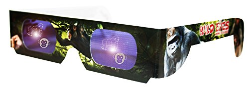 Holographic Primate Wild Eyes 3D Animal Glasses
