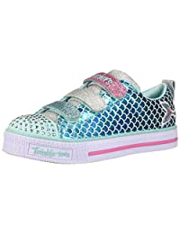 Skechers Girls Twinkle LITE-Sparkle Scales Sneakers