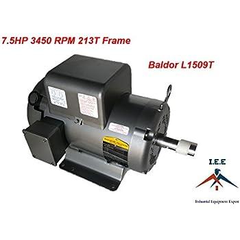 Amazon Com Baldor 7 5 Hp Electric Motor 1725 Rpm 215t
