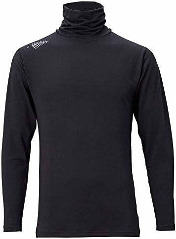 프리 노트 (FREE KNOT) 셔츠 레이어 인 터틀 넥 셔츠 스트레치 동안 두꺼운 블랙 90 Y1628 / Free Knot Shirt LayerTech Turtleneck Shirt Stretch Medium Thick Black 90 Y1628
