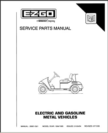 amazon com ezgo 28081g01 1994 1995 service parts manual for golf cart solenoid wiring diagram ezgo 28081g01 1994 1995 service parts manual for electric & gasoline powered medalist