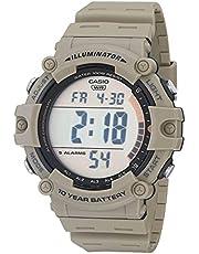 Casio Men's Quartz Resin Strap, Khaki, 27.63 Casual Watch (Model: AE-1500WH-5AVCF)