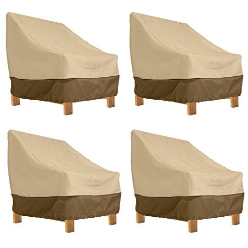 Classic Accessories Veranda Patio Deep Seat Lounge Chair Cover (4-Pack) (Veranda Patio Reviews Furniture Covers)
