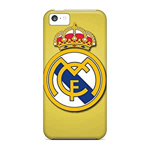 Tpu Case Cover For Iphone 5c Strong Protect Case - Real Madrid Cf Design