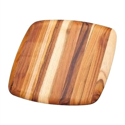 Serving Platter With Rounded Edges - Teak Wood Cutting Board (16 x 16 x .55 in.) - By Teakhaus (Best Wood For Chopping Board Uk)