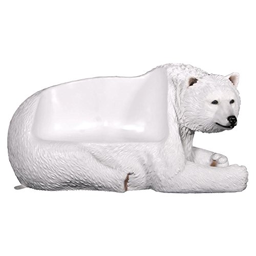 Design Toscano Brawny Polar Bear Bench Sculpture