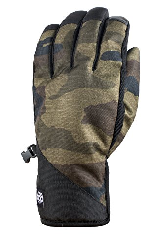 686 Men's Ruckus Pipe Glove | Waterproof Ski, Snowboard and Outdoor Gloves | Black - XL - Mens Pipe Glove