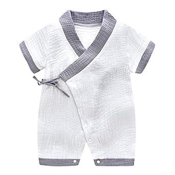 MAYOGO Pelele Bebé Unisex Verano Kimono Bebe Color sólido ...