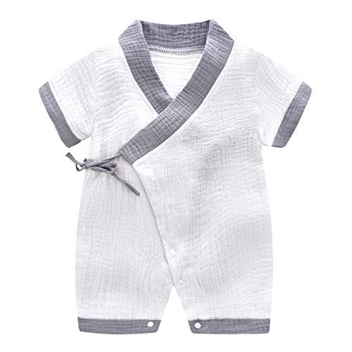 MAYOGO Pelele Bebé Unisex Verano Kimono Bebe Color sólido Retro Niño ...