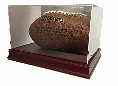 (Max Pro Executive Wood Football Display Case with Mirror - Cherry)