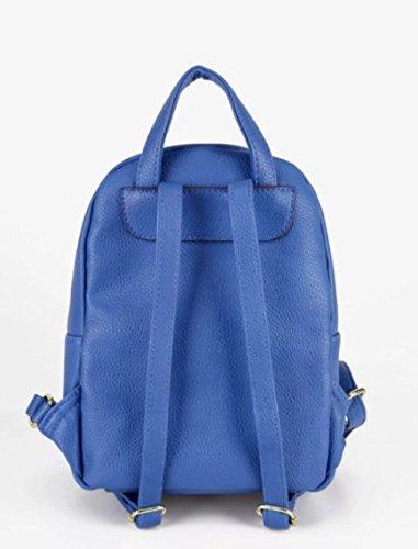 Zainetto con piccole borchie blu zaino chiusura a zip manici regolabili