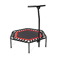 Sportplus Fitness Trampoline with BarThe SP-T-110 Fitness Trampoline from SportPlus not only exercises your entire body,but also helps your body coordination and motor skills. The SP-T-110 features nearsilent Bungee-Rope design to ensure a qu...