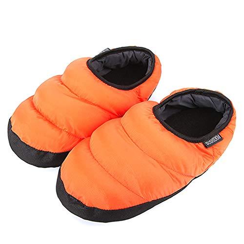 (PilotageAuto Winter Fur Down-Cotton Indoor Shoes Pantufa Casual Home Sneakers Warm Slipper,QZJ-BYR Orange,6)