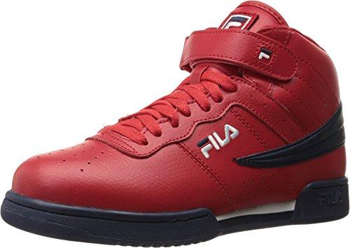 Fila Men's F-13V Leather/Synthetic Fila Red/Fila Navy/White 7.5 D US D (M)