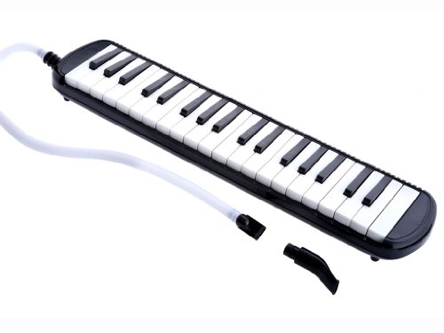 D'Luca M37-BK 37 Key Melodica with Case, Black by D'Luca