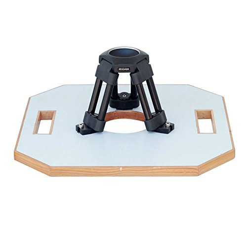 PROAIM Heavy-Duty Hi-Hat with 75mm Bowl - Aluminum Camera Riser/Mini Tripod Stand + Octagon Wood Board 15.5x15.5