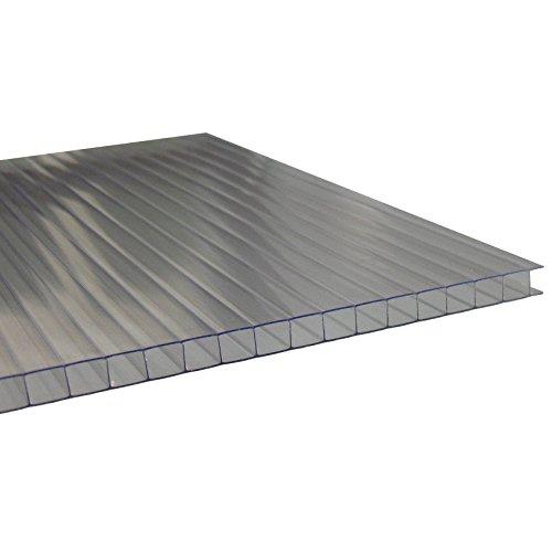 Andreas Ponto Stegplatten mit einseitiger UV-Koextrusion, Stärke 10 mm, klar, 210 x 1 x 100 cm, 425095580174