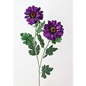 "Purple Zinnia Mum Silk Flowers - 31"" Tall - Set of 3 73"