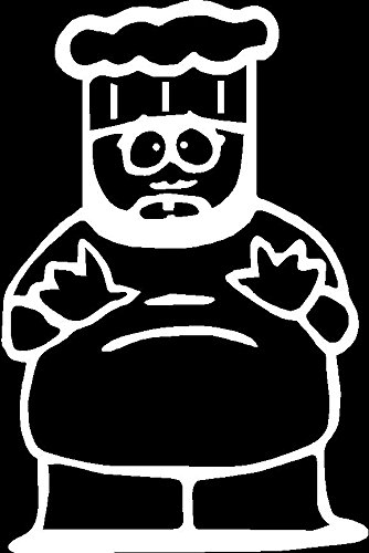 South Park Chef Cooking Vinyl Car Decal